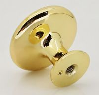 TEZ®  OVO® 30MKSB  Metal Pull Knobs Handles - 30mm dia - Come with screws - Shiny Brass